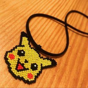 Handmade Beaded Pikachu Pendant Necklace